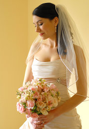 Photo of a bride, taken by Heather Owens